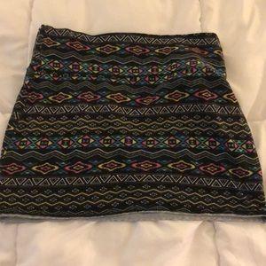 Multi-Colored Mini Skirt